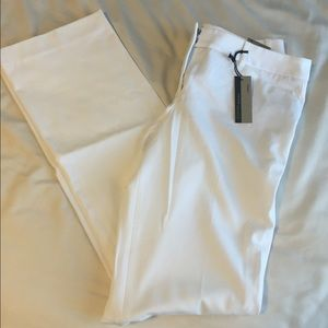 Pants - NWT Express white Editor barely boot cut pants 10L