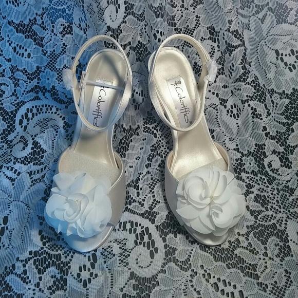 98302f5ebee Coloriffics Off White high heels - wedding shoe
