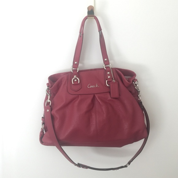 3ff9b00513 Coach Handbags - Coach Ashley Pleated Leather Carryall Satchel