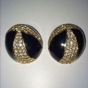Vintage clip-on earrings, signed