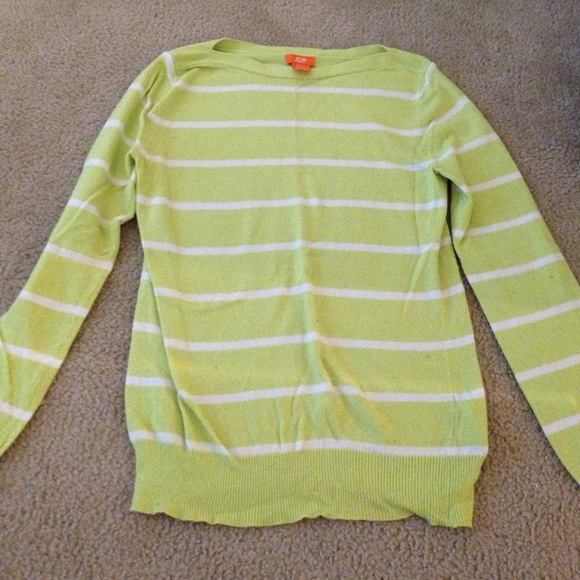 63% off Joe Fresh Sweaters - Joe Fresh lime green striped sweater ...