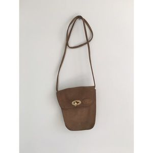 Vintage festival suede leather crossbody bag pouch