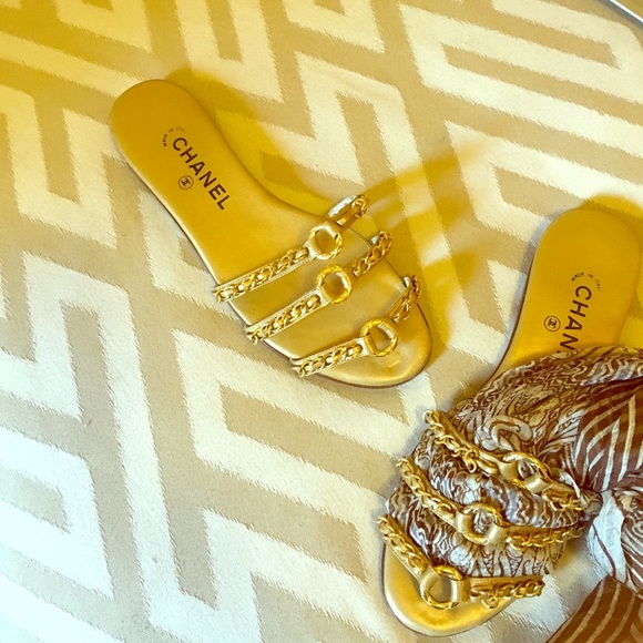 b36020e9f8ab Chanel Shoes - CHANEL Women s Open Toe Flat Sandal