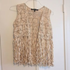 Winter Kate Jackets & Blazers - Winter Kate Woven Vest with Fringe - M