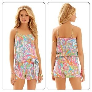 Lilly Pulitzer Deanna Romper in Scuba to Cuba