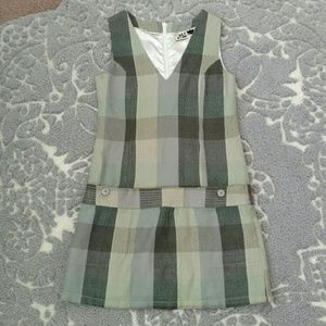 Volcom Green and Gray Plaid Dress Size XS