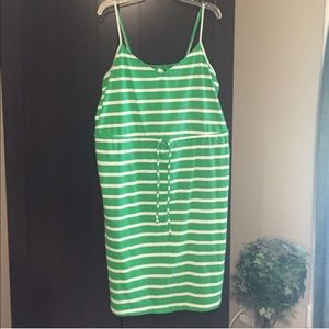Old Navy Green and White Striped Dress
