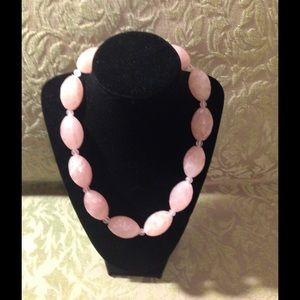 Jewelry - Rose Quartz Faceted Beads Necklace NWT