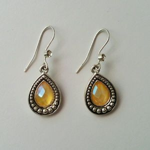 Sterling Silver Cat's Eye Earrings