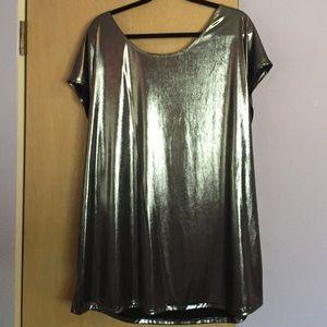 American Apparel Metallic Tunic Dress