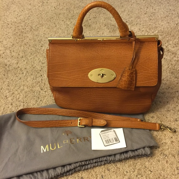 d365bbb7cee9 Ginger Shrunken Calf Leather Suffolk Bag (Small). M 57994468f739bc902f00756f