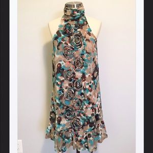 Kensie Adorable Splash Print Mini Dress, XS