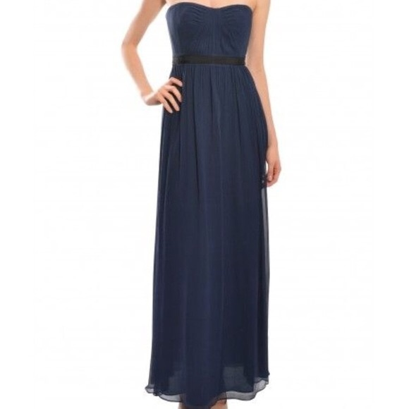 Strapless Navy Gown