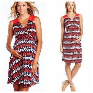Maternal America Dresses & Skirts - Maternity stork dress