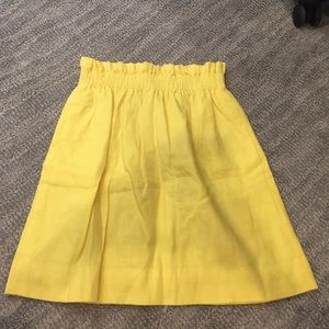 J.Crew linen mini skirt with pockets