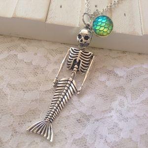 Abbie's Anchor Jewelry - 💜Mermaid skeleton necklace