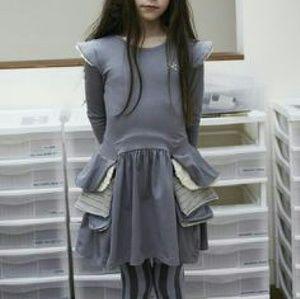 No Added Sugar Other - No Added Sugar girls grey ruffle dress size 7 8