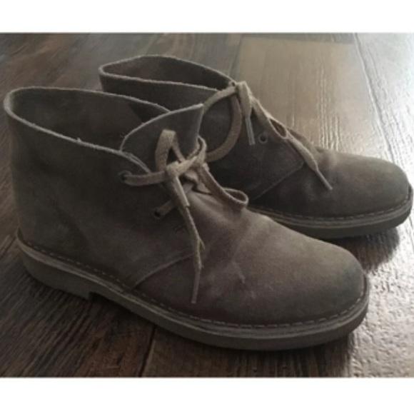4d81f57c0c6db Clarks Shoes | Suede Leather Desert Boots Kids Sz 135 | Poshmark