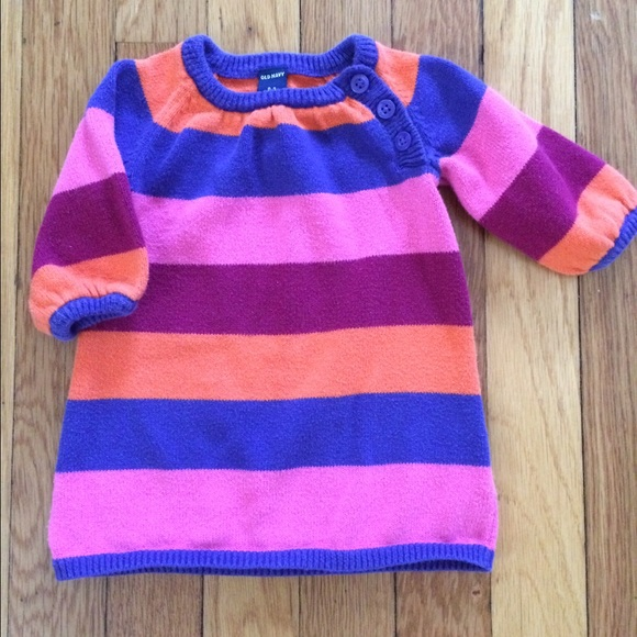 ad1af44e6b3a Old Navy girl Striped Sweater Dress. M 57ceec837fab3a428900e537
