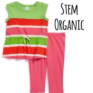 Stem Baby Other - NWT Stem Organic Striped Two Piece Leggings Set