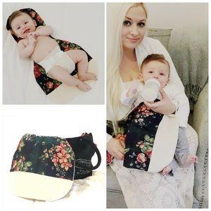 NEW HANDMADE diaper bag changing pad burping bib