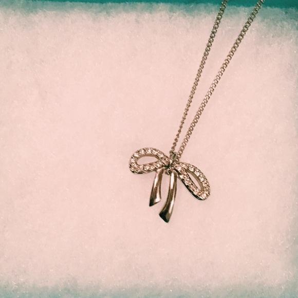 dcf034492bc50 Swarovski crystal bow tie necklace