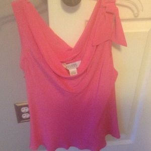 Allison Taylor Tops - SALE - Bright pink sleeveless summer blouse
