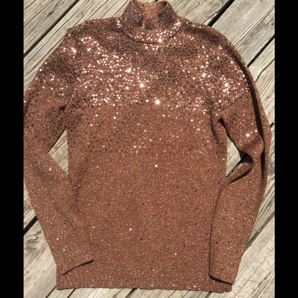 Once Again - Metallic Sequin Dressy Turtleneck Sweater from Lisa's ...