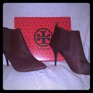 Tory Burch Shoes - NIB tory Burch wine pointy toe booties