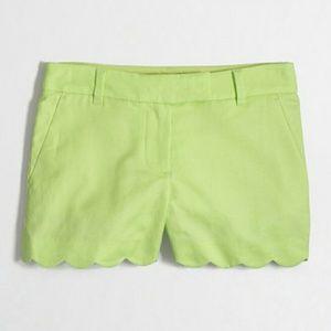 J. Crew Factory Pants - J. Crew Factory Scalloped Hem Shorts Size 2 NWT