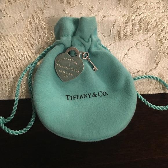 25b95f6315ae Jewelry - Tiffany   Co. Heart Tag with Key Pendant