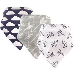 Hudson Baby Other - Baby Boy's 3 pack Bandana Bibs Airplanes