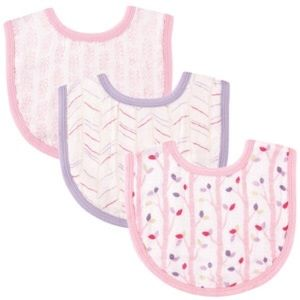 Hudson Baby Other - Baby Girls 3 pack Muslin Bibs Hudson Baby