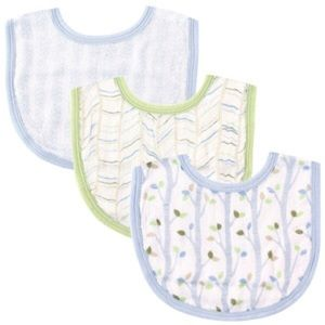 Hudson Baby Other - Baby Boy's 3 pack Muslin Bibs Hudson Baby