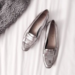 Ferragamo Shoes - FINAL FLASH- Ferragamo Metallic Gunmetal Loafers