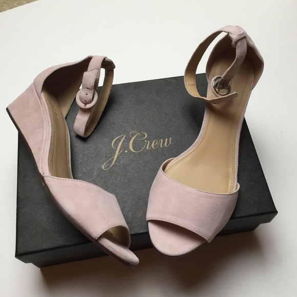 54bb0d8afed3 NWT J crew Laila suede wedges