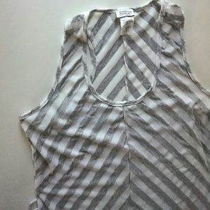 Charming Charlie Dresses & Skirts - Charming Charlie | Gray and White Striped Maxi