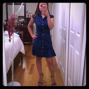 Just added blue button down dress