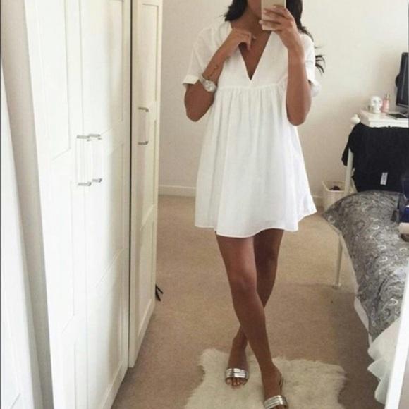 b56f63836bd Zara Poplin Jumpsuit Dress. M 5799865e4225be6ce701361b