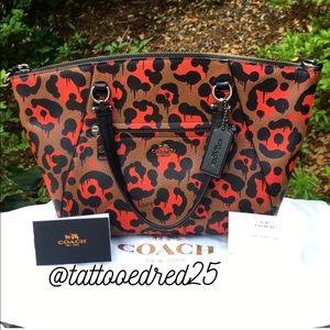 Coach Handbags - • Coach 36451 Leather Ocelot Wild Beast Satchel