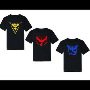 Pokemon Go Team Tee Shirts