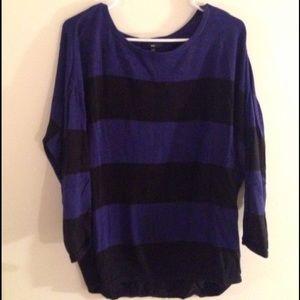 GAP black and blue striped sweater