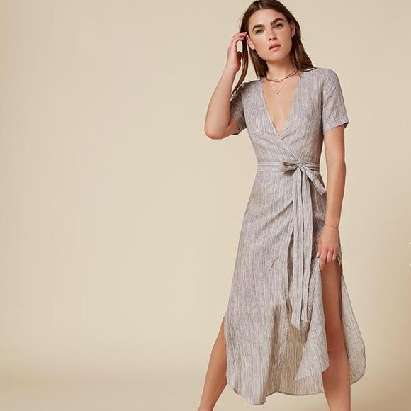 68b474c58f9 Reformation linen wrap dress