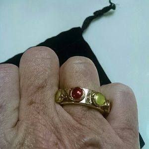 Jewelmint Jewelry - Red and yellow stone ring