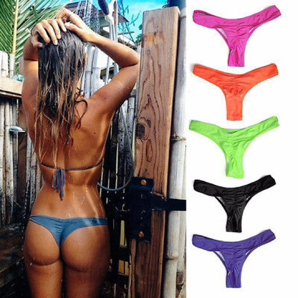 9fce8254691a3 Tanga Purple Brazilian Bikini Bottoms