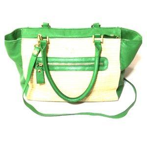 Emma Fox Handbags - Emma Fox New Port leather green satchel med