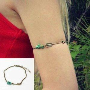 Boho turquoise arm cuff