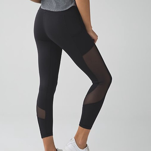 57% off lululemon athletica Pants - LULULEMON COOL TO STREET MESH ...