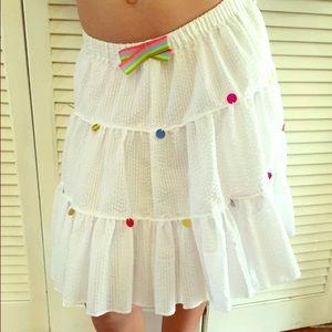 Pink Chicken Other - Girls Nwt pink chicken white flowy skirt! Sequins