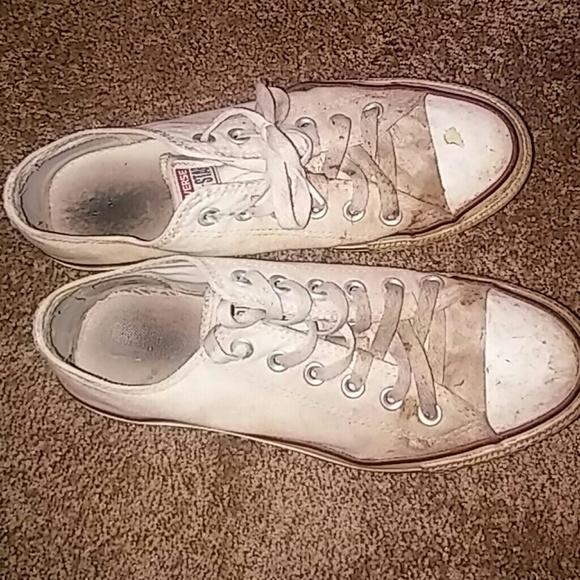 6997a2388cb9 Converse Shoes - Dirty white converse